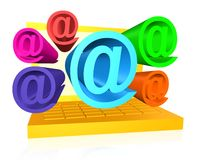 Email Attack Royalty Free Stock Image