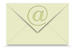 EMail auf weißem Hintergrund stockbilder