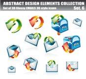 EMail-Auslegung-Element-Ansammlung lizenzfreie abbildung