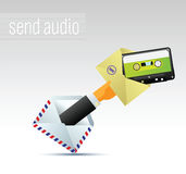 Email avec la musique Image libre de droits