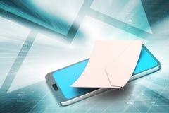 Email avec la tablette Photos libres de droits