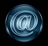 email błękitny ciemna ikona ilustracji