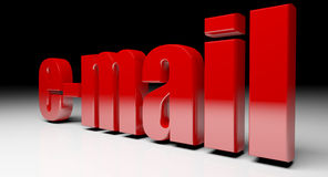 Email background. Fine 3d image of red email text background Royalty Free Stock Photo