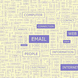 EMAIL. Background concept wordcloud illustration. Print concept word cloud. Graphic collage Royalty Free Stock Image