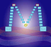 Email background Stock Photography