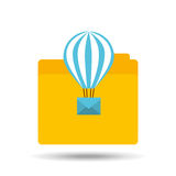 Email balloon folder file design. Vector illustration eps 10 Royalty Free Stock Photos