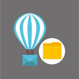 Email balloon folder file design. Vector illustration eps 10 Royalty Free Stock Images