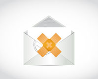 Email band aid fix solution concept Stock Photo