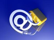email bezpiecznie royalty ilustracja