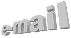 Email bianco Fotografie Stock