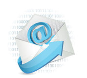 Email binary concept illustration design Stock Photo