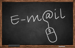 Email on Blackboard Stock Photography