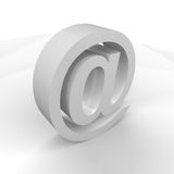 Email blanc Photographie stock