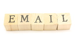 Email Blocks Stock Photography