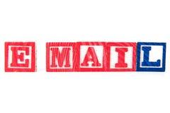 Email - blocs de bébé d'alphabet sur le blanc Images libres de droits
