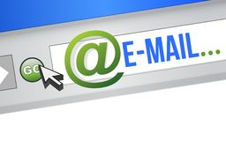 Email Blue Concept Royalty Free Stock Photos