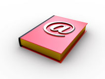Email book. (e-mail alias on the red book Stock Photo