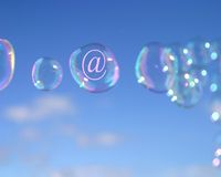 Email bubbles Stock Images
