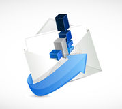 Email business economy concept Royalty Free Stock Image