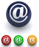 Email buttons Royalty Free Stock Image