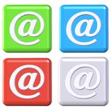 Email buttons royalty free illustration