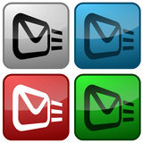 Email Buttons. Colored email icons for use as a contact button