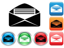 Email buttons set Royalty Free Stock Photos