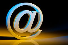Email characters. online communication. Royalty Free Stock Images