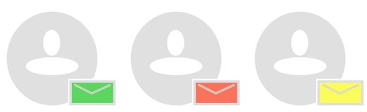 Email/Chat icon Stock Photos