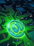 Email circuit Stock Photography