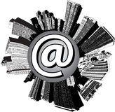 Email city Stock Photo