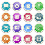 Email color icons. Royalty Free Stock Images