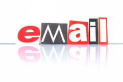 Email. With colored newspaper letters Stock Photos