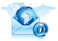 email communication Stock Image