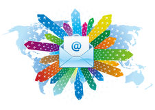 email communication vector illustration