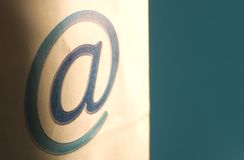Email communication - @ royalty free stock photo