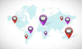 email communication around the world Royalty Free Stock Photography