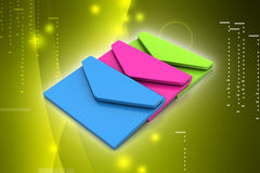 Email, communication concept Stock Images