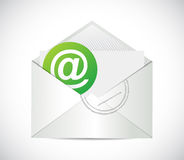 Email communication. contact us illustration Royalty Free Stock Image
