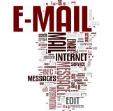 Email communication word cloud royalty free stock images