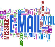 Email communication word cloud stock photos