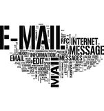 Email communication word cloud vector illustration