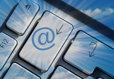Email communications Stock Photo