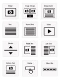 Email components Royalty Free Stock Photo