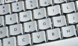 Email Computer Keys. Keyboard with the word EMAIL spelled out on the keys Royalty Free Stock Photos