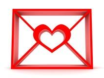 Email con cuore Fotografie Stock Libere da Diritti