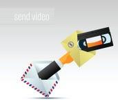 Email con il video Fotografia Stock Libera da Diritti