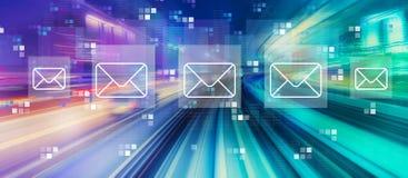 Email con mosso ad alta velocit? fotografie stock libere da diritti