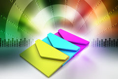 Email, conceito de uma comunicação Imagens de Stock