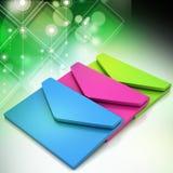 Email, conceito de uma comunicação Fotos de Stock